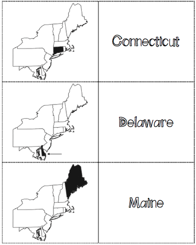 image about Northeast States and Capitals Quiz Printable identified as Northeast Location
