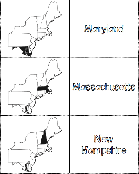 picture relating to Northeast States and Capitals Quiz Printable called Northeast Area