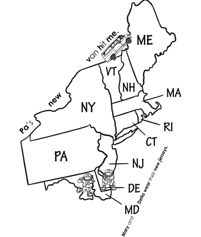 photograph relating to Northeast States and Capitals Quiz Printable identified as Northeast Area